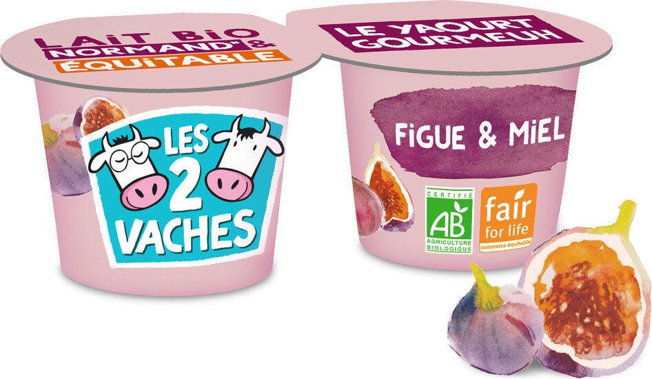 LES 2 VACHES GOURMEUH FIGUE MIEL 115X2 - Produit - fr