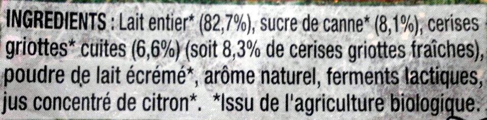 Cerise Gri(gn)otte - Ingredients - fr