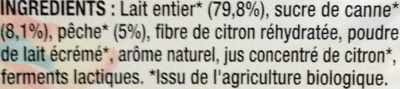 Yaourt Brassé Nature 0% Mat. Gr - Ingredients