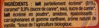 Flan Bio à la vanille nappé de caramel - Ingrédients - fr