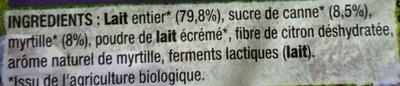 Myrtille Très Sauvage - Ingrediënten - fr