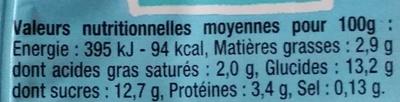 Myrtille Très Sauvage - Voedingswaarden