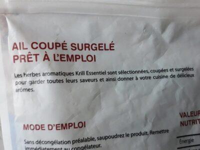 Ail coupé surgelé prêt à l'emploi - Ingredients - fr