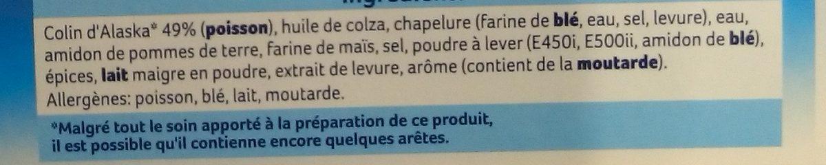 Bâtonnets Façon Fish and Chips - Ingrédients