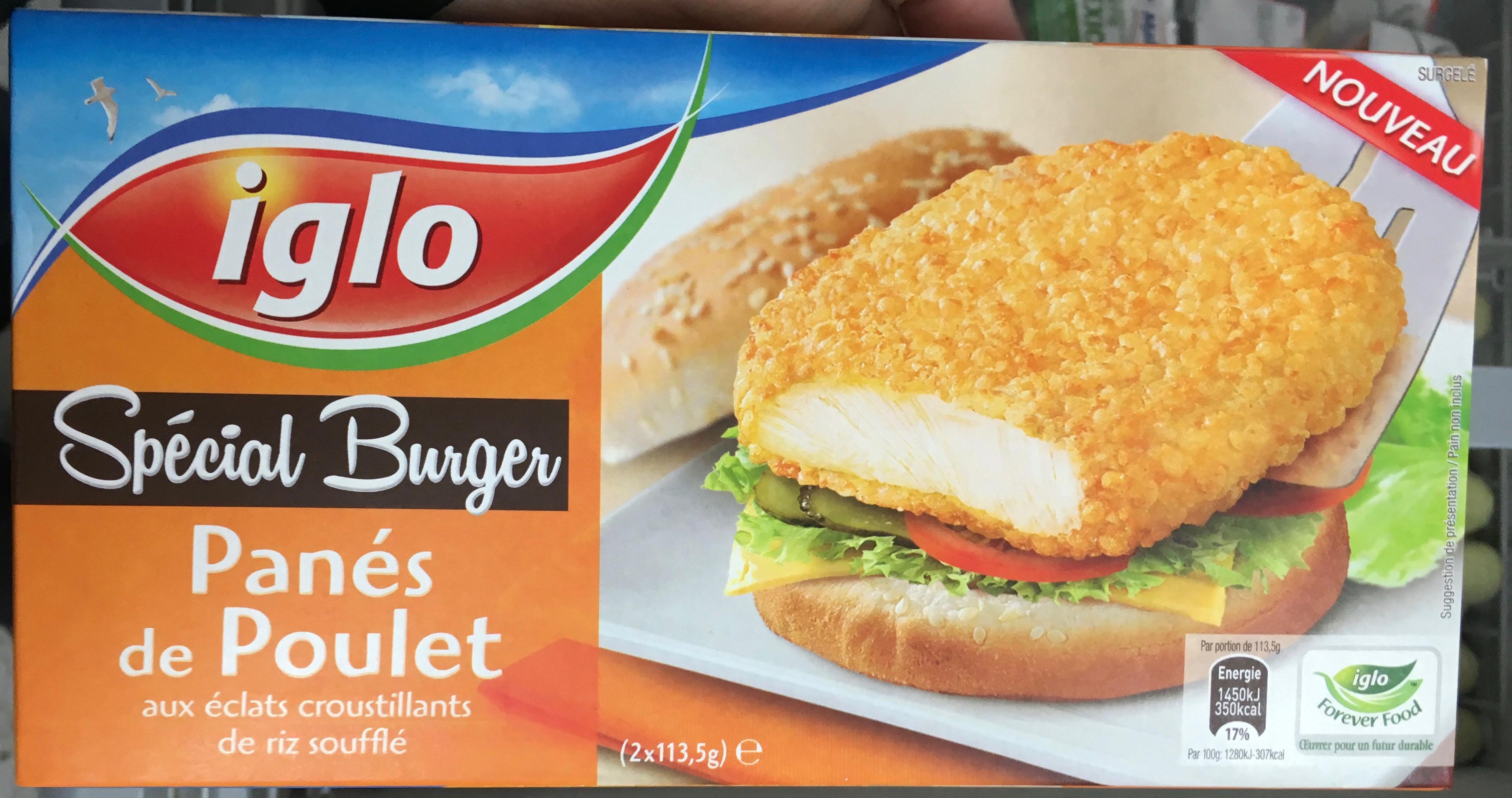 Spécial Burger Panés de poulet aux éclats croustillants de riz soufflé - Produit - fr