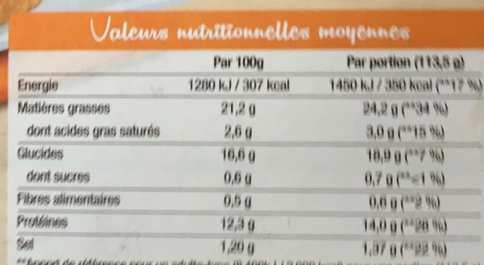Spécial Burger Panés de poulet aux éclats croustillants de riz soufflé - Informations nutritionnelles - fr