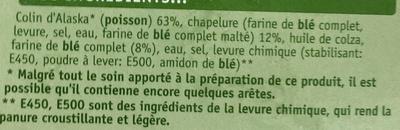 2 Filets de Colin Blé Complet - Ingredients