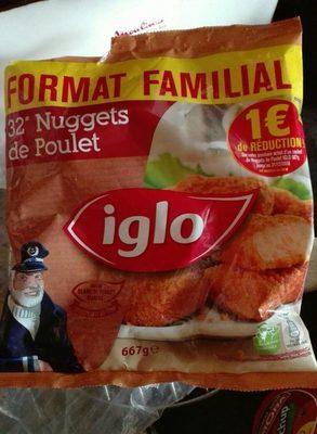 32 nuggets de poulet sac 667g IGLO - Product