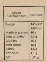 Donuts fourrés fraise avec glaçage et decor - Informations nutritionnelles - fr