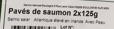 Pavés de saumon bio Irlande - Ingrediënten