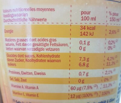 Danao fraise - Nutrition facts