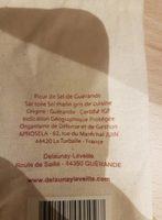 Fleur de sel de Guerande - Ingrediënten - fr