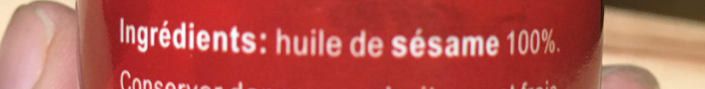 Huile de sésame 100% - Ingrédients - fr