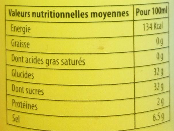Sauce pour Nem - Informations nutritionnelles - fr