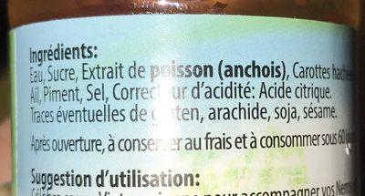 Sauce pour nem - Ingrediënten - fr