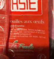 Nouilles Chinoises - Ingredients - fr