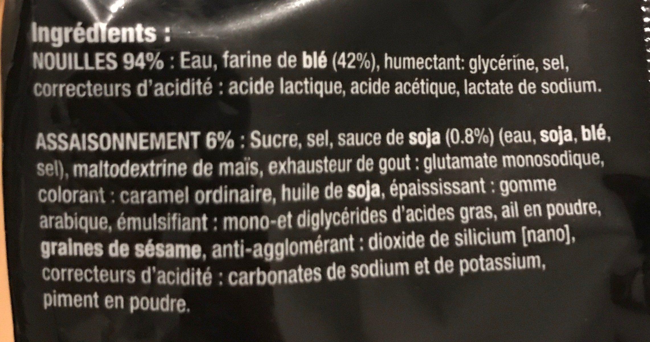 Ramen soja caramel - Ingredients