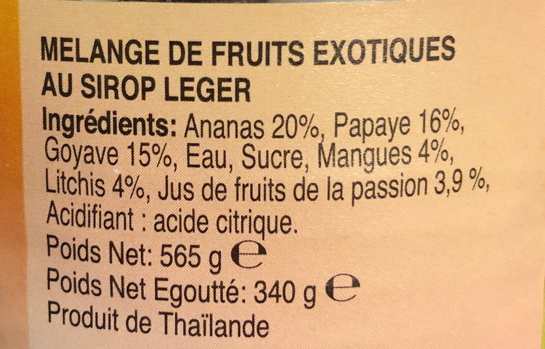 Melange de fruits exotiques - Ingrediënten - fr