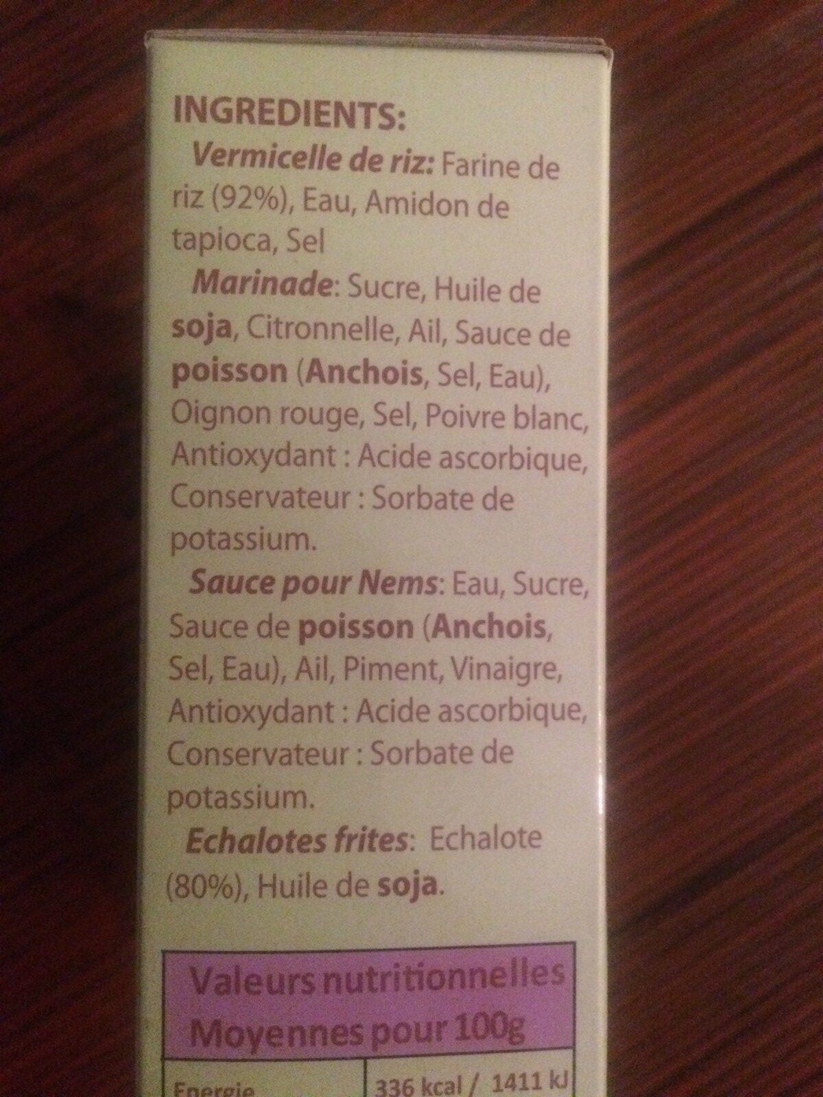 Kit pour bo bun - Ingrediënten