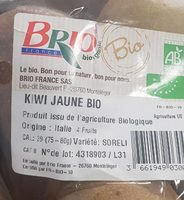 Kiwi jaune bio - Ingrédients