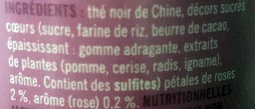 """Thé """"Love"""" - Ingredients - fr"""