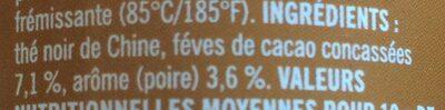 """Thé """"Taureau"""" - Ingrédients"""