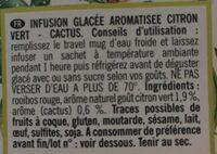 Infusion glacée citron vert cactus - Ingrédients