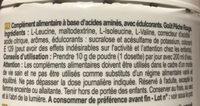 BCAA 6.1.1 - Ingrédients - fr