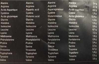 Whey protéines Xnative - Ingrédients - fr