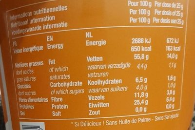 Almond Butter - Nutrition facts - fr