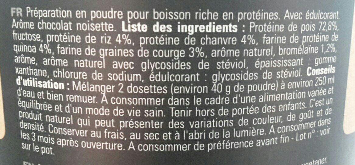 Vegan sport Mix protein - Ingrédients