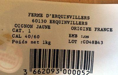 Oignon jaune - Product - fr