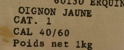 Oignon jaune - Ingrediënten - fr