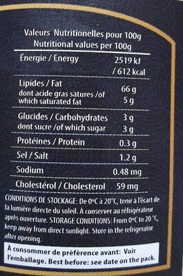 Mayonnaise Premium - Nutrition facts - fr
