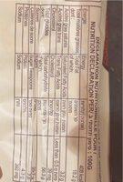 Cake saveur chocolat - Informations nutritionnelles - fr
