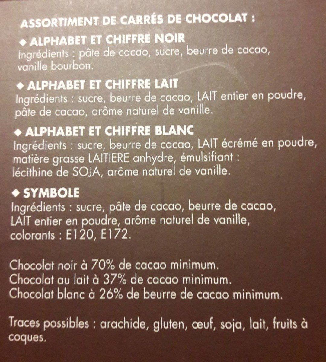 Chocolat - Ingredients