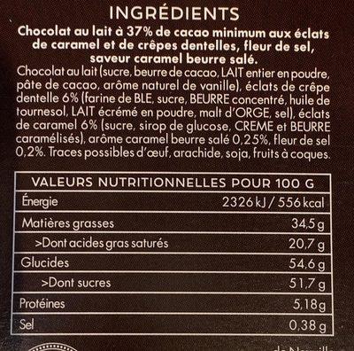 Lait 37% Inspiration Bretagne - Ingredients