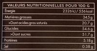 Lait 37% Inspiration Bretagne - Nutrition facts