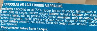 Praliné Lait - Ingrediënten