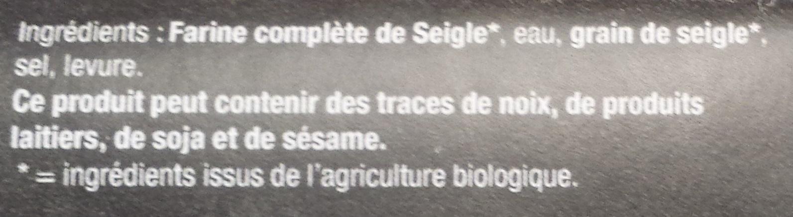 Pain de Seigle - Ingrédients - fr