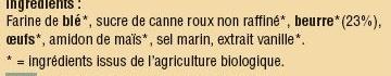 Galettes au Beurre - Ingredients - fr