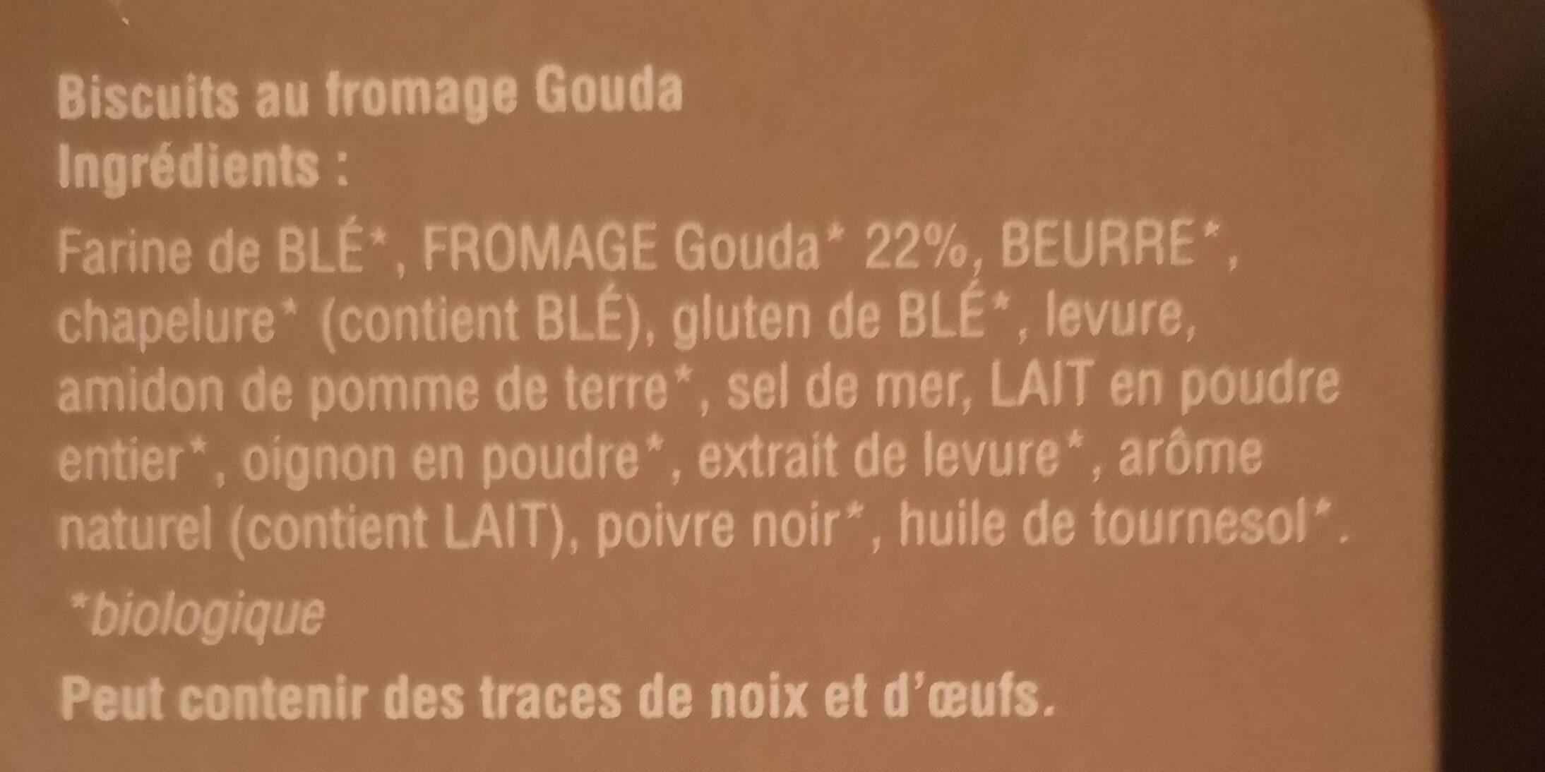 Biscuit au fromage (gouda) - Ingrédients