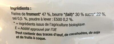 Coeurs au beurre - Ingredients - fr