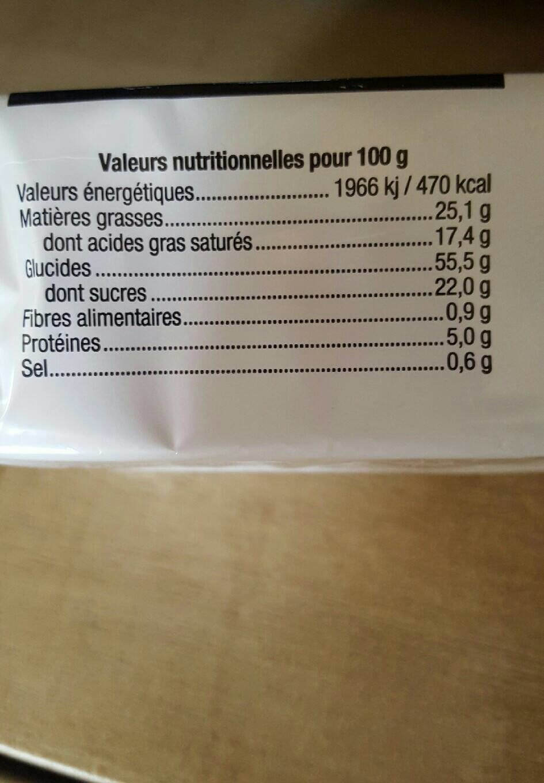 Coeurs au beurre - Nutrition facts - fr