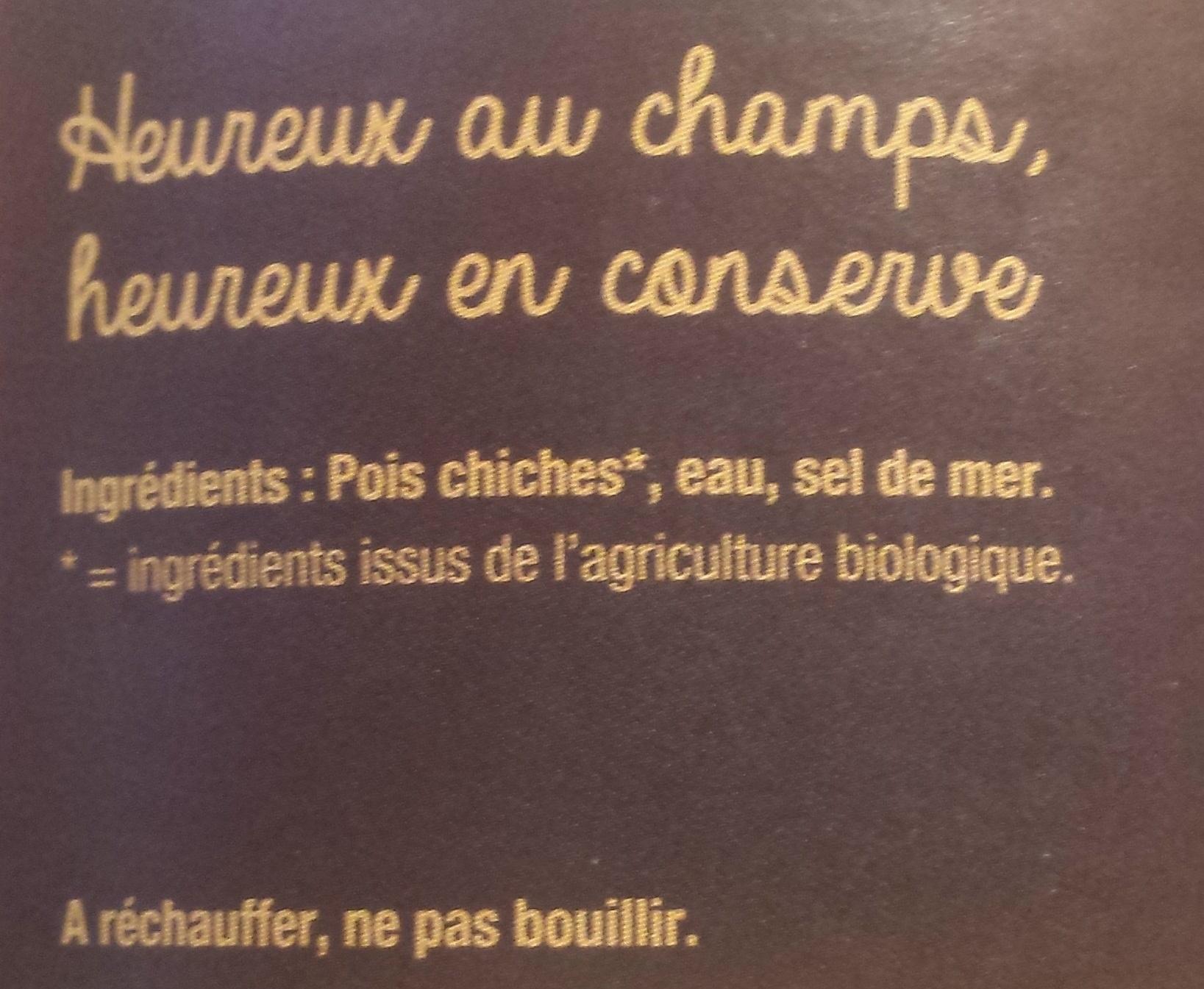 Pois chiches bio - Ingrediënten