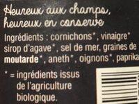 Cornichons aigre-doux - Ingredienti - fr