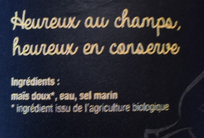 Maïs doux bio - Ingredients - fr