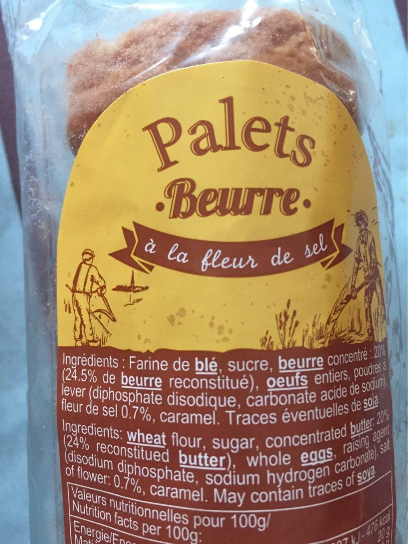 Palets Beurre à la Fleur de Sel - Produit - fr