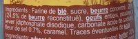 Palets Beurre à la Fleur de Sel - Ingrédients - fr