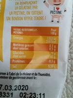 Flower power - Voedingswaarden - fr